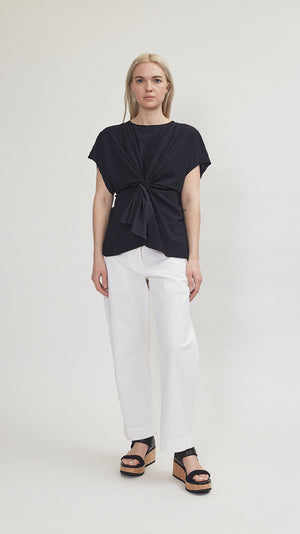 MM6 by Maison Margiela Draped Top in Black