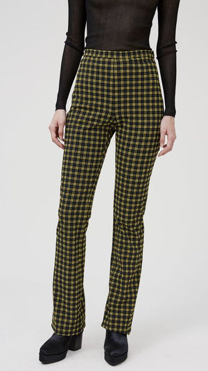 Rachel Comey Switzer Pant - Black Stretchy Plaid
