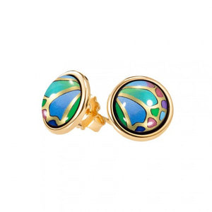 FreyWille Hommage A Alphonse Mucha Papillon - Cabochon Earrings