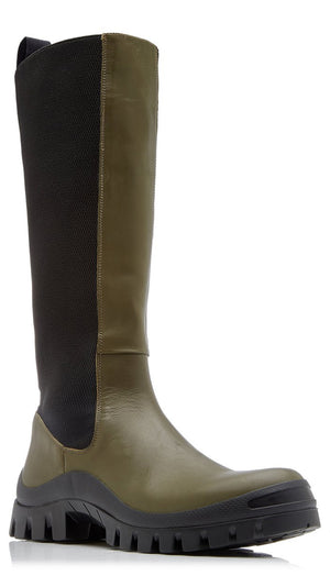 ATP Atelier Bitonto Knee High Boot in Olive