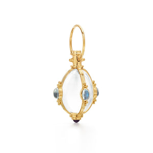 Temple St. Clair 18K Classic Amulet with Moonstone and Tanzanite