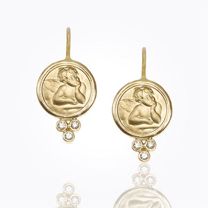 Temple St. Clair - Angel Earrings with Diamonds