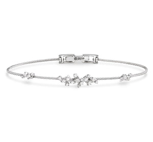 Paul Morelli Single Confetti Unity Bracelet in White Gold
