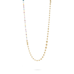 Marco Bicego 18K Yellow Gold and Multi-Colored Gemstone Convertible Necklace