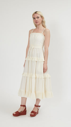 Ulla Johnson Lune Dress in Blanc