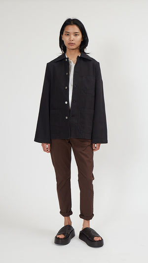 Hope Worker Jacket in Washed Black