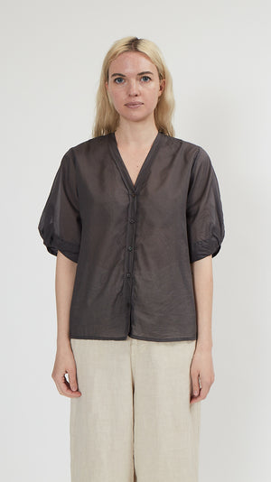 Elsa Esturgie Encens Top in Grey
