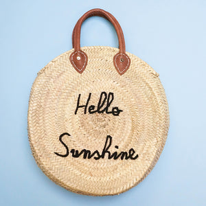 Poolside Bags Le Cercle - Hello Sunshine Straw Bag