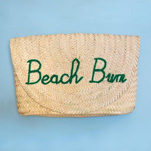 Poolside Bags L'Enveloppe Clutch - Beach Please Straw Bag