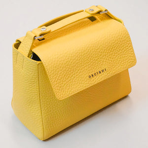 Sveva Small Leather Handbag - Lemon