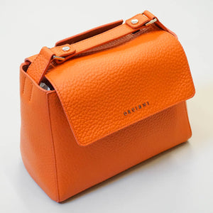 Sveva Small Leather Handbag - Orange