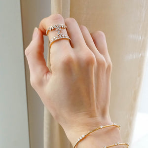 Signature Double Band Ring in 18K Rose Gold
