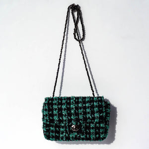 Maria La Rosa Alaska Purse - Green Tweed