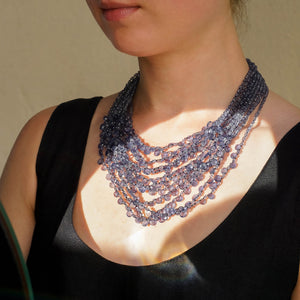 Eva Nueva Multi-Strand Iolite Necklace
