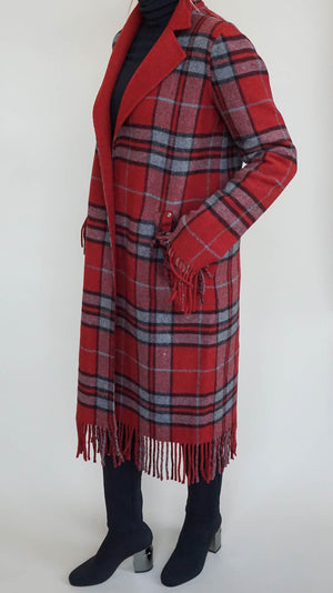 Sosken Jasmin Plaid Jacket - Red
