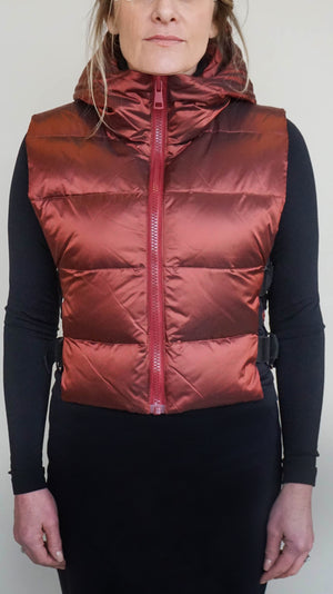 Sosken Down Vest - Autumn Red