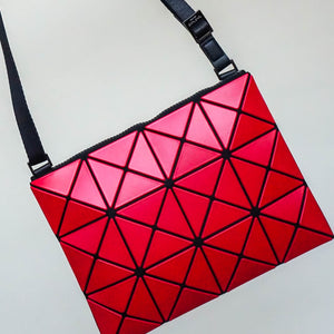 Issey Miyake Bao Bao Lucent Matte Crossbody Bag in Red