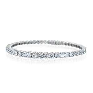 Signature Diamond Cuff Tennis Bracelet in 18K White Gold