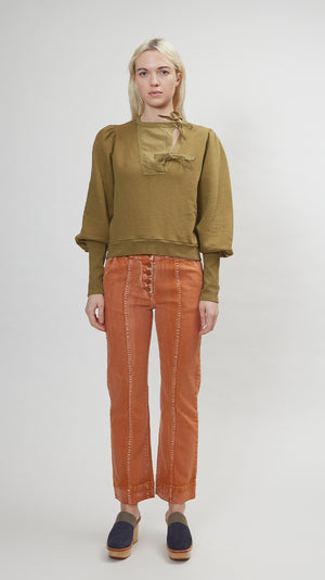Ulla Johnson Alba Pullover in Fatigue