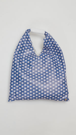 MM6 by Maison Margiela Japanese Weave-Print Tote Bag in Blue
