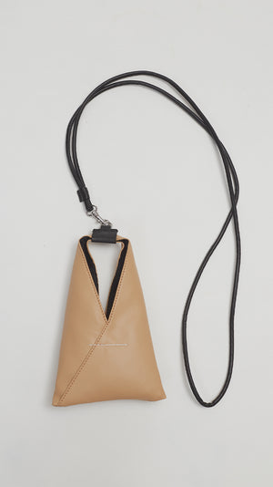 MM6 by Maison Margiela Mini Nappa Bag in Tan