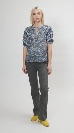 Ulla Johnson Aiko Top in Indigo