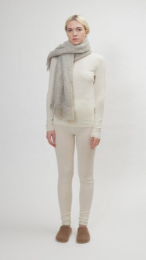 Lauren Manoogian Handwoven Keyhole Scarf in Grey