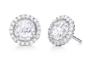 Paul Morelli Rose Cut Diamond Stud Earrings