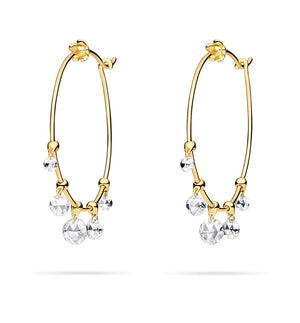 Paul Morelli Wind Chime Hoop Earrings