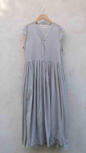 Elsa Esturgie Cadence Dress in Light Gray