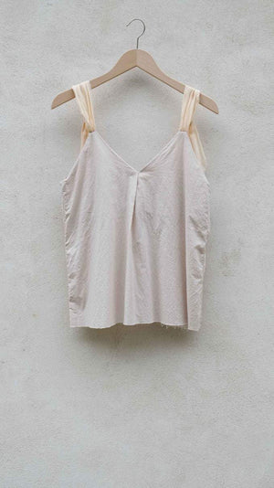 Elsa Esturgie Caraco Top in Blush