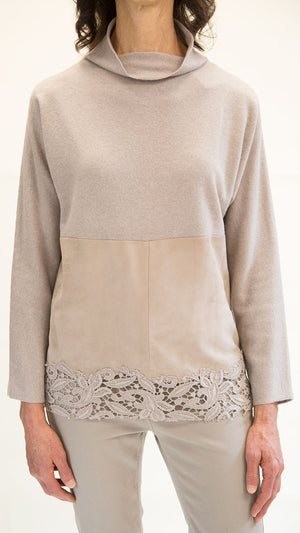 Fabiana Filippi Cashmere Blend Sweater With Floral Detail
