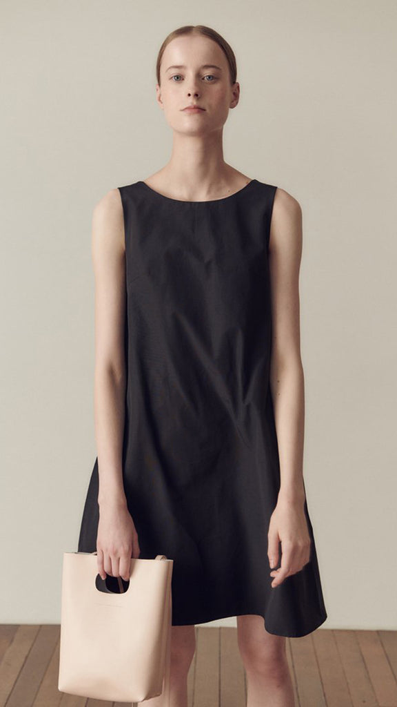 Hidden Forest Market Ceremony Mini Dress in Black