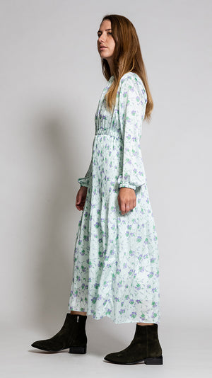 Hidden Forest Market Fortuna Pleats Dress in Mint