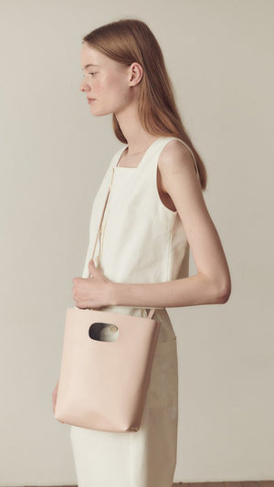 Hidden Forest Market Mini Shopper Cross Body Bag in Light Pink