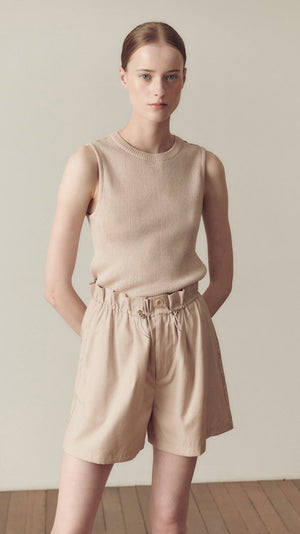Hidden Forest Market Sleeveless Knit Top in Champagne Pink