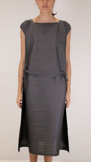 Issey Miyake Pleats Please Stone Gradation Mini Dress in Gray