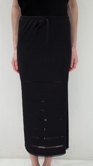 Issey Miyake Pleats Please A-Poc Basics Skirt in Black