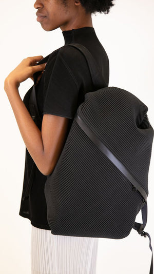 Issey Miyake Pleats Please Bias Backpack in Black