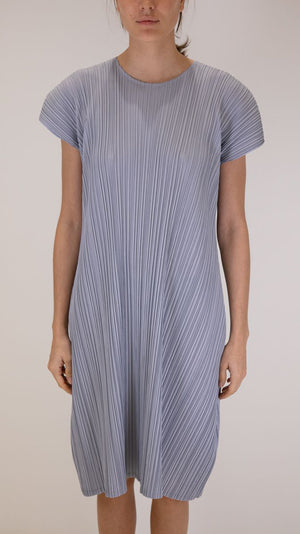 Issey Miyake Pleats Please Mellow Pleats Dress in Blue
