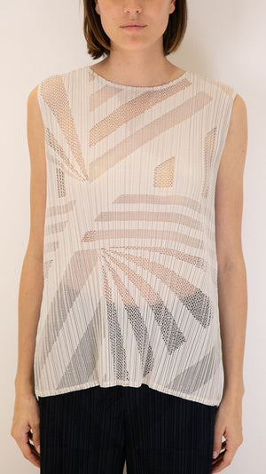 Issey Miyake Pleats Please Sonority Tank Top in Grey