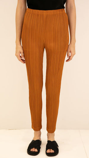 Issey Miyake Pleats Please Thicker Bottoms Pant in Burnt Orange