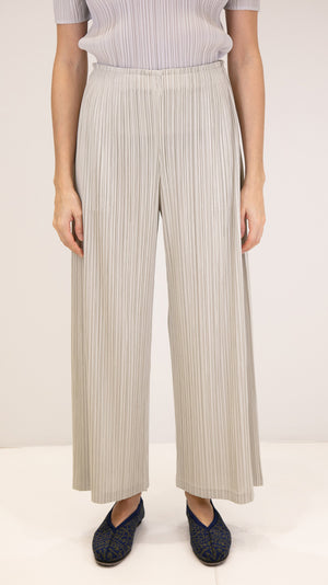 Issey Miyake Pleats Please Thicker Bottom Pants in Ivory
