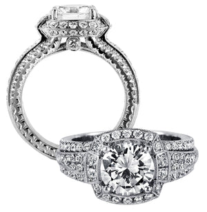 Platinum Engagement Ring - 24