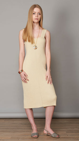 Lauren Manoogian Rib Dress - Ivory