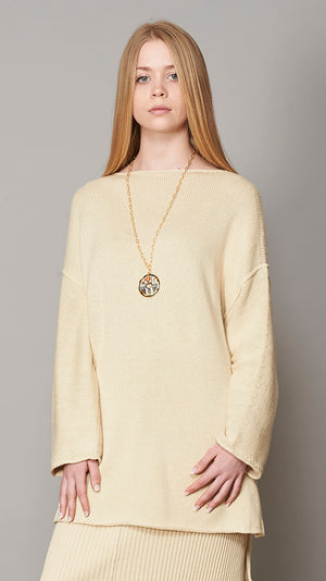 Sweater - Oversized Boatneck - Ivory