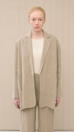 Lauren Manoogian Burlap Blazer in Natural