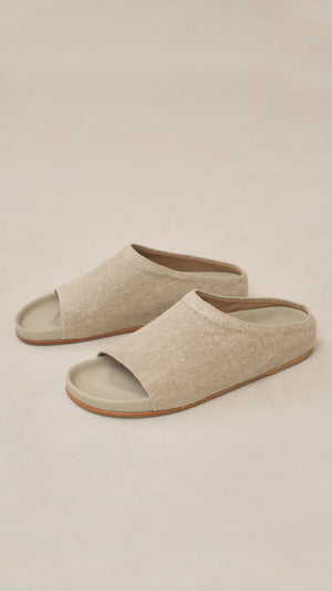 Lauren Manoogian Burlap Mono Slide in Linen