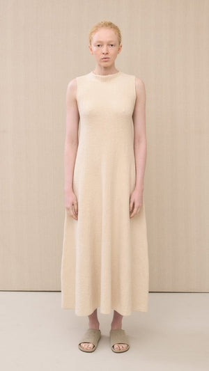 Lauren Manoogian Shell Dress in Raw White