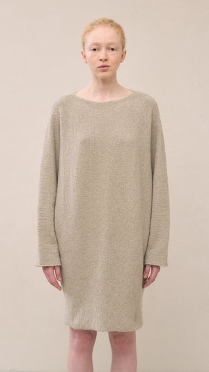 Lauren Manoogian Horizontal Trapezoid Dress in Pumice